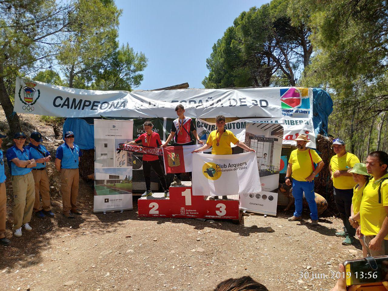 Adrián Hernando subcampeón de España 3D cadete instintivo